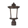 This item: Eddington Antique Bronze One-Light Outdoor Post Mount with Cased Opal Etched Shade
