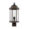 This item: Sevier Antique Bronze One-Light Outdoor Post Mount with Clear Shade
