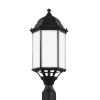 This item: Sevier Black 22-Inch One-Light Outdoor Post Mount with Satin Etched Shade