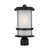This item: Wilburn Black One-Light Outdoor Post Mount with Satin Etched Shade Energy Star