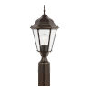 This item: Bakersville Heirloom Bronze One-Light Outdoor Post Mount with Clear Beveled Shade