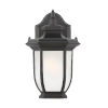This item: Childress Black One-Light Outdoor Wall Sconce with Satin Etched Shade