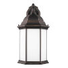 This item: Sevier Antique Bronze Nine-Inch One-Light Outdoor Downlight Wall Sconce with Satin Etched Shade