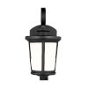 This item: Eddington Black Six-Inch One-Light Outdoor Wall Sconce with Cased Opal Etched Shade Energy Star