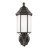 This item: Sevier Antique Bronze Seven-Inch One-Light Outdoor Uplight Wall Sconce with Satin Etched Shade Energy Star
