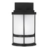 This item: Wilburn Black Six-Inch One-Light Outdoor Wall Sconce with White Shade