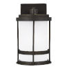 This item: Wilburn Antique Bronze One-Light Outdoor Small Wall Sconce with Satin Etched Shade
