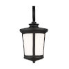 This item: Eddington Black One-Light Outdoor Medium Wall Sconce with Cased Opal Etched Shade