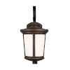 This item: Eddington Antique Bronze One-Light Outdoor Medium Wall Sconce with Cased Opal Etched Shade