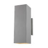 This item: Pohl Painted Brushed Nickel Two-Light Outdoor Wall Sconce with Tempered Glass Shade Energy Star