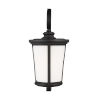 This item: Eddington Black One-Light Outdoor Extra-Large Wall Sconce with Cased Opal Etched Shade