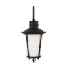 This item: Cape May Black 11-Inch One-Light Outdoor Wall Sconce with Etched White Inside Shade Energy Star