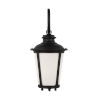 This item: Cape May Black One-Light Outdoor Wall Sconce with Etched White Inside Shade Energy Star
