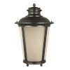 This item: Cape May Burled Iron One-Light Outdoor Wall Sconce with Etched Hammered with Light Amber Shade Energy Star
