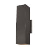 This item: Pohl Bronze Two-Light Outdoor Large Wall Sconce with Tempered Glass Shade