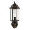 This item: Sevier Antique Bronze One-Light Outdoor Uplight Wall Sconce with Clear Shade