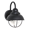 This item: Sebring Black Eight-Inch LED Outdoor Wall Sconce