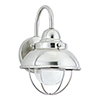 This item: Sebring Brushed Stainless Eight-Inch LED Outdoor Wall Sconce