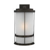 This item: Wilburn Antique Bronze 13-Inch One-Light Outdoor Wall Sconce with Satin Etched Shade