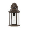 This item: Sevier Antique Bronze One-Light Outdoor Downlight Wall Sconce with Clear Shade