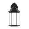 This item: Sevier Black Eight-Inch One-Light Outdoor Downlight Wall Sconce with Satin Etched Shade