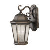 This item: Martinsville Corinthian Bronze Two-Light Outdoor Wall Sconce with Clear Seeded Shade