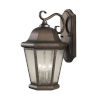 This item: Martinsville Corinthian Bronze Three-Light Outdoor Wall Sconce with Clear Seeded Shade