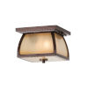 This item: Wright House Sorrel Brown Two-Light Outdoor Flush Mount with Striated Ivory Shade