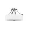 This item: Sunset Drive Chrome Three-Light Semi-Flush Mount with White Opal Etched Shade