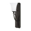 This item: Barrington Oil Rubbed Bronze One-Light Bath Vanity with White Opal Etched Shade