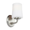 This item: Jennie Satin Nickel One-Light Bath Vanity with White Opal Etched Shade