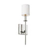 This item: Hewitt Polished Nickel One-Light Bath Vanity with White Parchment Shade