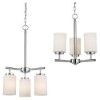 This item: Oslo Chrome Three-Light Chandelier with Etched Opal White Glass