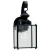 This item: Jamestowne Black 5.5-Inch Wide One-Light Outdoor Wall Lantern