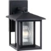 This item: Hunnington Black 7-Inch Wide One-Light Outdoor Wall Lantern with Clear Seeded Glass