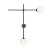 This item: Sabon Satin Black Two-Light LED Double Sconce
