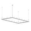 This item: Intervals Satin White 18-Light LED Pendant with Clear Etched Cone