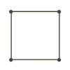 This item: Purolinear 360 Satin Black 25-Inch Four-Light Square LED Wall Bar