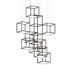 This item: Cubix Satin Black Nine-Light Vertical LED Pendant