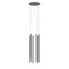 This item: Light Chimes Satin Black 24-Inch 6-Light LED Pendant