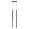This item: Light Chimes Satin Black 32-Inch 6-Light LED Pendant