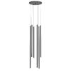 This item: Light Chimes Satin Black 10-Inch 6-Light Assorted LED Pendant