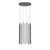 This item: Light Chimes Satin Black 24-Inch 10-Light LED Pendant