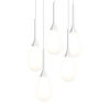 This item: Parisone Satin White Five-Light LED Pendant with White Cased Glass