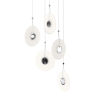 This item: Meclisse Polished Chrome Five-Light LED Pendant with Etched Glass