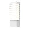 This item: Tawa Textured White 13-Inch Slim LED Sconce
