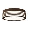 This item: Marue Textured Bronze 11-Inch Round LED Flush Mount