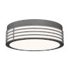 This item: Marue Textured Gray 11-Inch Round LED Flush Mount
