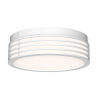 This item: Marue Textured White 11-Inch Round LED Flush Mount