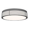 This item: Marue Textured Gray 15-Inch Round LED Flush Mount